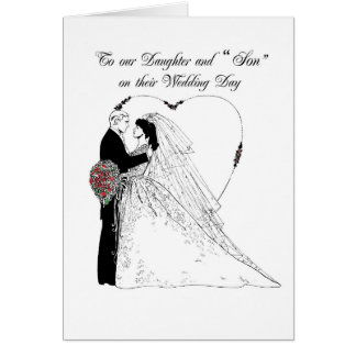 2852 Daughter and Son Wedding Blessings Cards