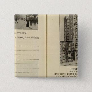 28586 Broadway & 31st St Hotel Wolcott 15 Cm Square Badge