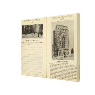 28586 Broadway & 31st St Hotel Wolcott Canvas Print