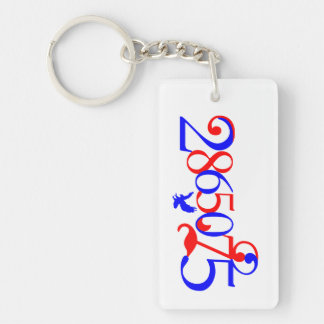 2865075 The Patriot Number Rectangle Keychain