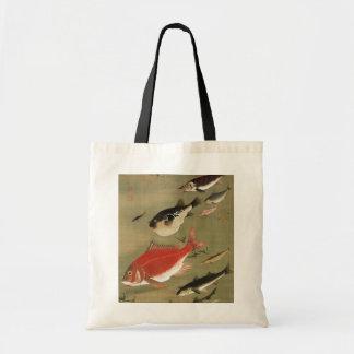 28. 群魚図, 若冲 Various Fishes, Jakuchū, Japan Art Budget Tote Bag