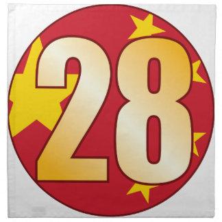 28 CHINA Gold Napkin