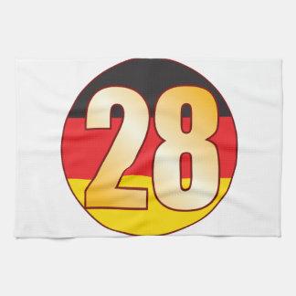 28 GERMANY Gold Tea Towel