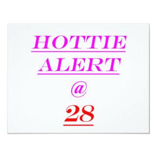 28 Hottie Alert 11 Cm X 14 Cm Invitation Card