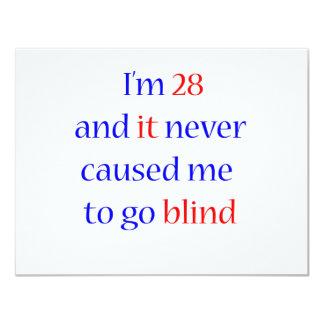 28 never gone blind 11 cm x 14 cm invitation card