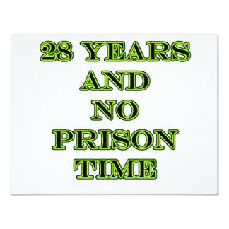 28 No prison time 11 Cm X 14 Cm Invitation Card