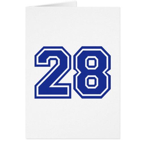28 - number greeting card