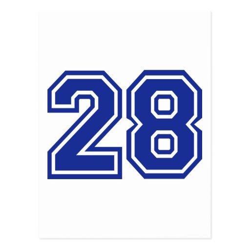 28 - number postcard