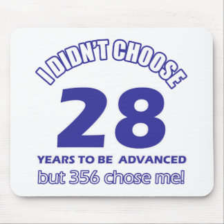 28 years advancement mouse pad