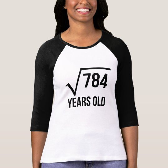 28 Years Old Square Root T-Shirt