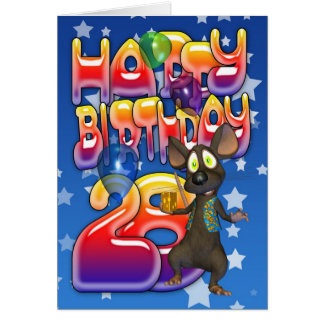 28th Birthday Card, Happy Birthday Greeting Card