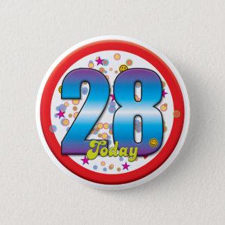 28th Birthday Today v2 6 Cm Round Badge