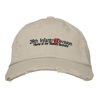 28th Infantry Division Embroidered Hats