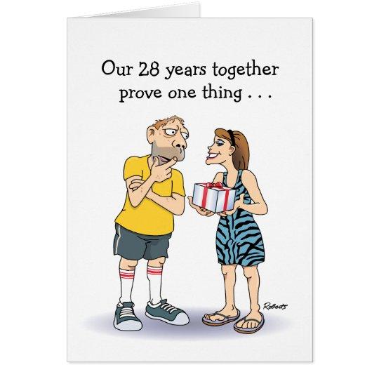 28th Wedding Anniversary Gift: 28th Wedding Anniversary Card: Love Card