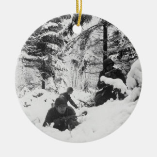 290th American Regiment in the Battle of the Bulge Christmas Ornament