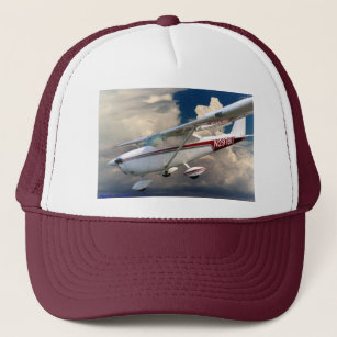 646fff6b84545 2976U Descending Cessna 172 Trucker Hat