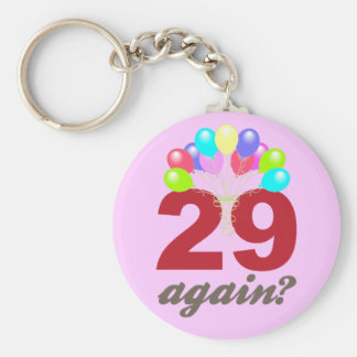 29 Again? Basic Round Button Key Ring