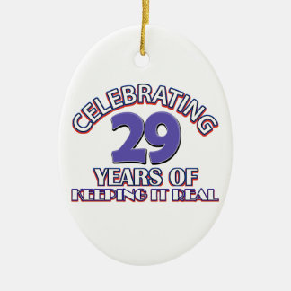 29  birthday design christmas ornament