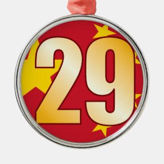 29 CHINA Gold Christmas Ornament