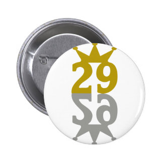29-Corona-Reflection 6 Cm Round Badge