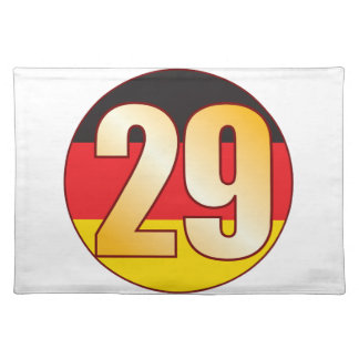 29 GERMANY Gold Placemat