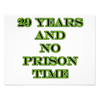29 No prison time Invitations