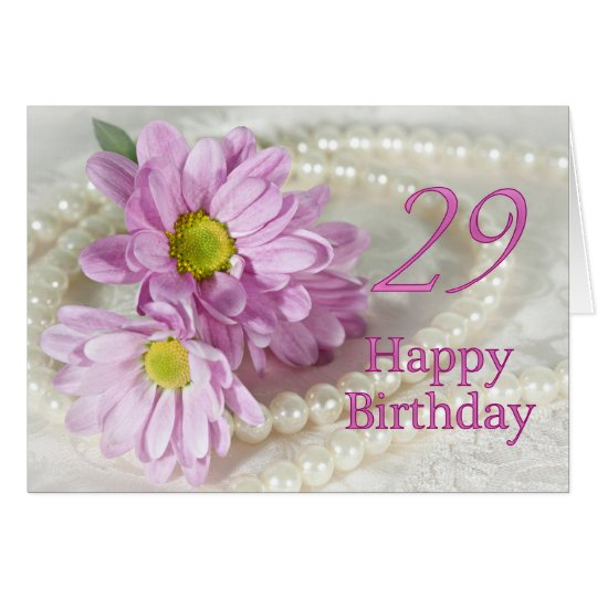 29th Birthday card with daisies