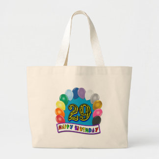 29th Birthday Gifts with Assorted Balloons Design Jumbo Tote Bag