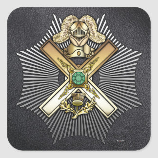 29th Degree Knight of Saint Andrew Square Sticker