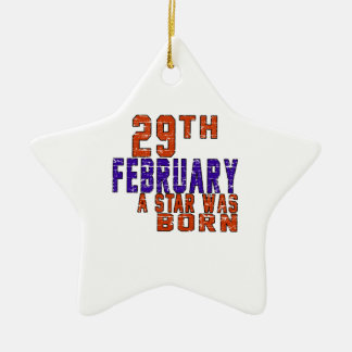 29th February a star was born Ceramic Star Decoration
