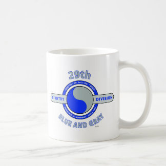 "29TH INFANTRY DIVISION ""BLUE AND GRAY"" COFFEE MUGS"