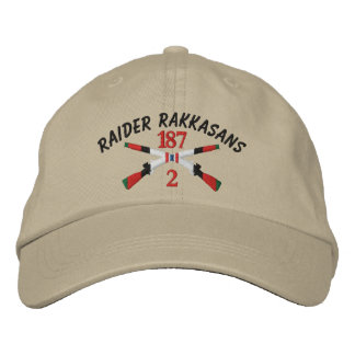 2-187th Infantry Afghanistan Crossed Rifles Embroidered Baseball Cap