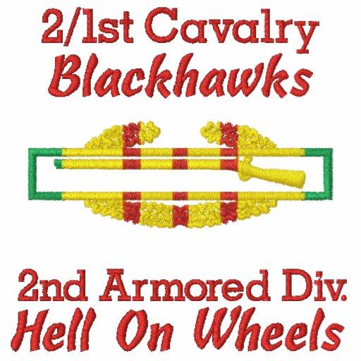 2/1st Cav. 2nd Armored Div. CIB Embroidered Shirt