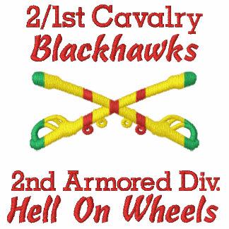 2/1st Cavalry 2nd Cav. Div. Crosse Sabers Shirt