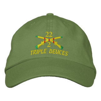 2/22nd Infantry Crossed Rifles Embroidered Hat