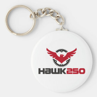 2.25 Basic Button Hawk 250 Keychain