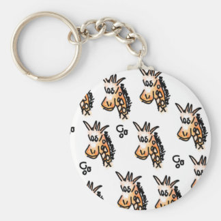 2 25 Basic Button Keychain -Giraffe design
