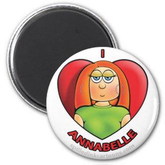 """2.25"""" I Heart Annabelle Magnet"""