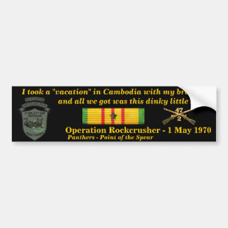 2/47th Cambodian Vacation Bumper Sticker