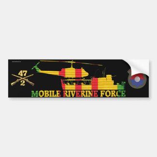 2/47th Inf. MRF ATC(H), Patch & Rifles Sticker Bumper Sticker