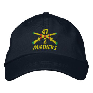 2/47th Infantry Crossed Rifles Embroidered Hat