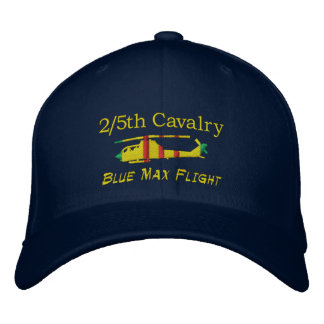 2/5th Cavalry Blue Max AH-1G Cobra Embroidered Hat