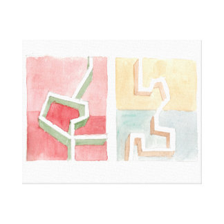 2 Abstract Textures Canvas Print