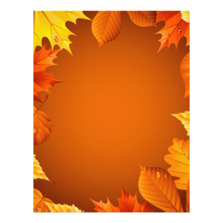 2.ai Orange Autumn Leaves 21.5 Cm X 28 Cm Flyer
