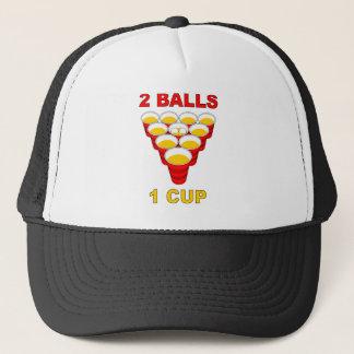 2 Balls 1 Cup (Beer Pong Hat) Trucker Hat