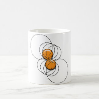 2 Basketball Pattern - 3D Coffee Mug