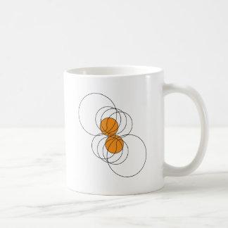 2 Basketball Pattern Coffee Mugs
