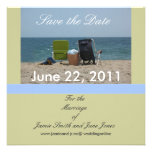 2 Beach Chairs Save the Date Cards Personalised Invitation