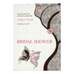 2 Become 1 Kissing Butterflies Bridal Shower Invit