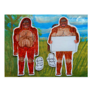 2 bigfoot sagittal,1 text, in Everglades,.JPG Postcard